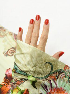 ифлекс с цветами листьями и узором пейсли 1