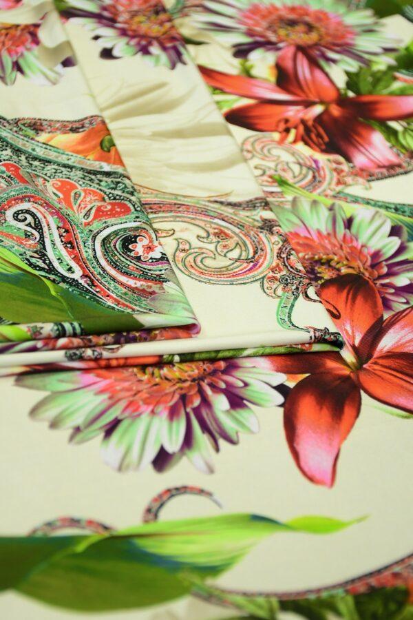 ифлекс с цветами листьями и узором пейсли 3