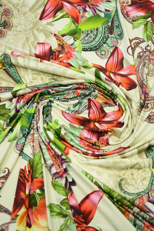 ифлекс с цветами листьями и узором пейсли 2