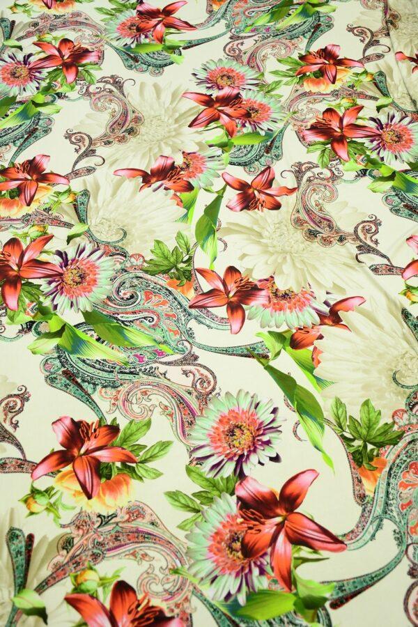 ифлекс с цветами листьями и узором пейсли 5