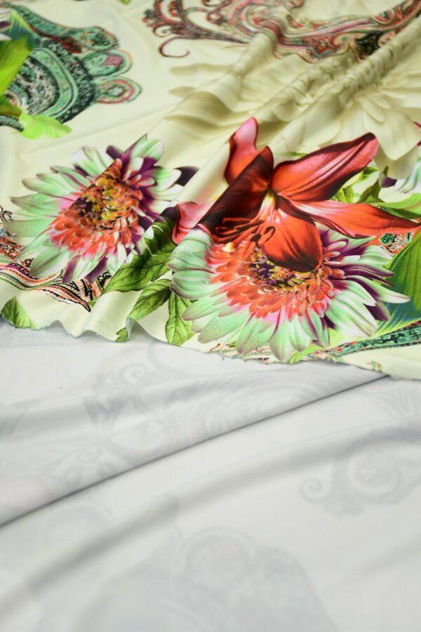 ифлекс с цветами листьями и узором пейсли 4