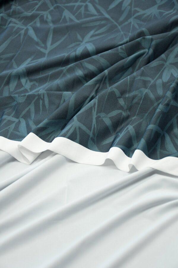 Бифлекс серо-синий со стеблями бамбука 3