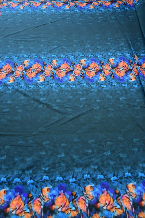 Бифлекс темно-синий купон с цветочной каймой 5