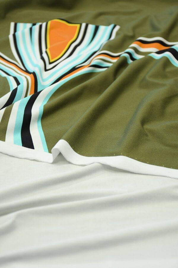 Бифлекс хаки с крупным абстрактным узором 3