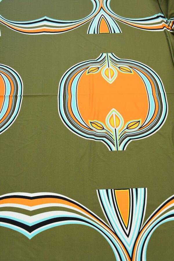 Бифлекс хаки с крупным абстрактным узором 5