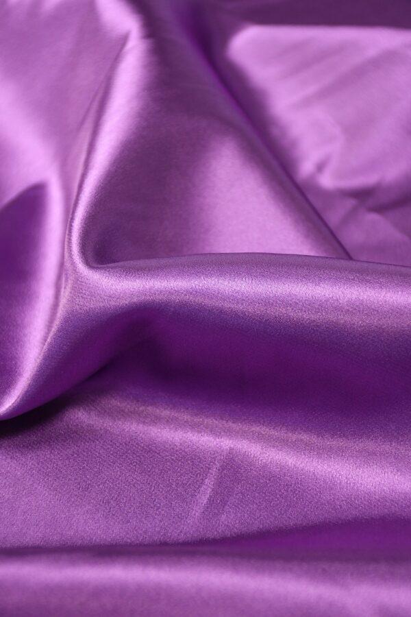 Атлас стрейч фиолетовый 5