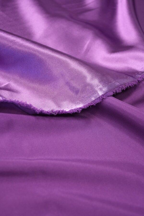 Атлас стрейч фиолетовый 4