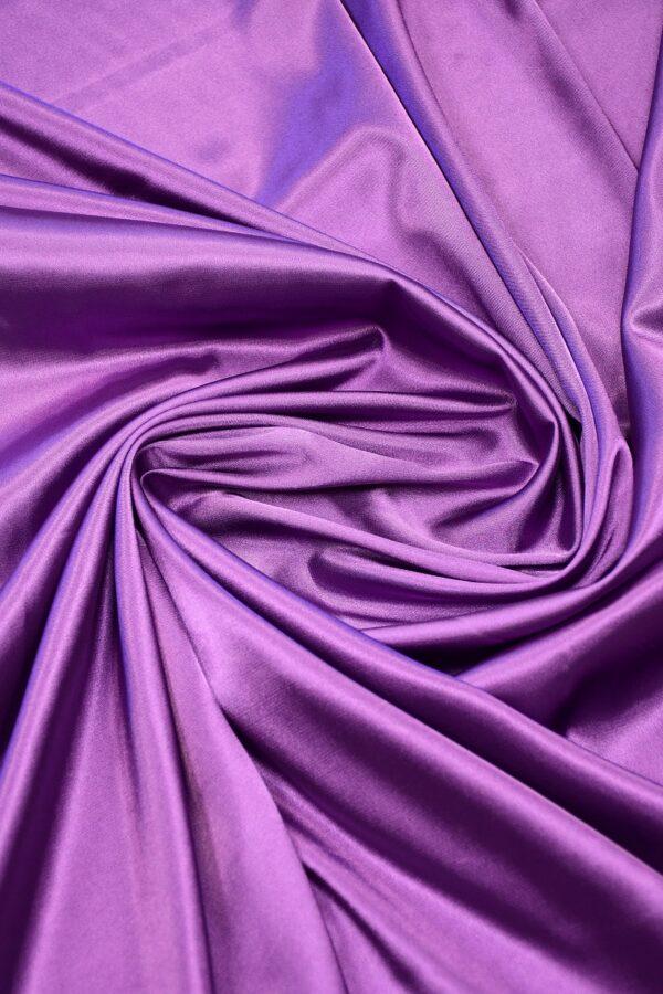Атлас стрейч фиолетовый 2