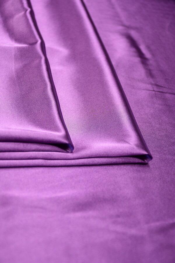 Атлас стрейч фиолетовый 3