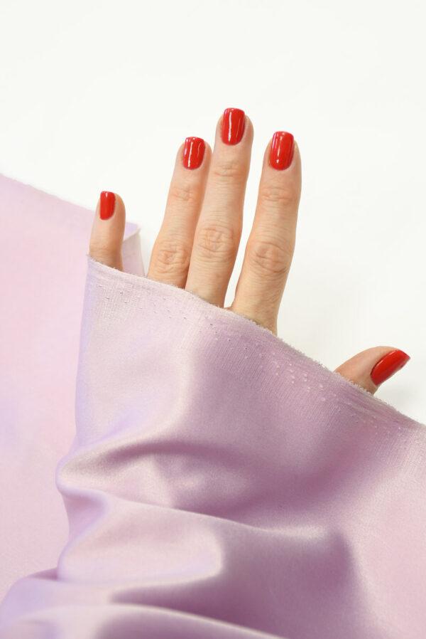 Атлас холодный розовый оттенок 1