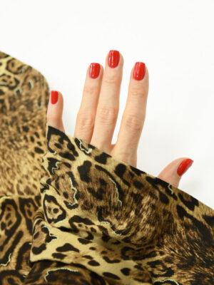 Трикотаж леопардовый с люрексом 1