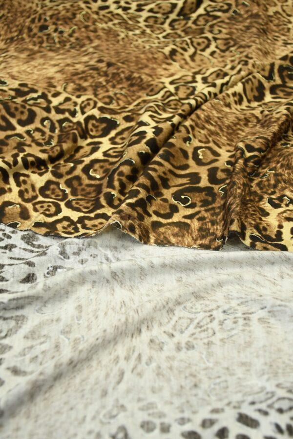 Трикотаж леопардовый с люрексом 4