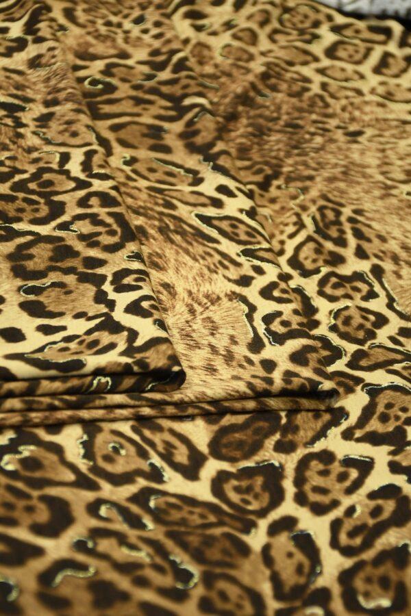 Трикотаж леопардовый с люрексом 3