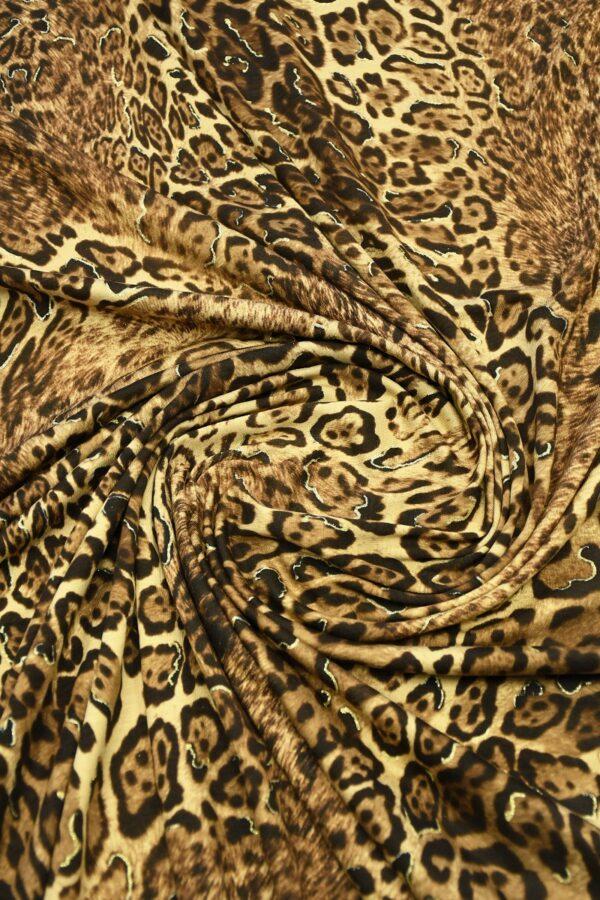 Трикотаж леопардовый с люрексом 2