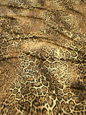 Трикотаж леопардовый с люрексом