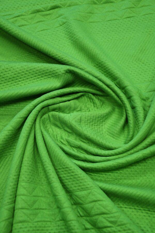 Джерси зеленый с фактурным узором 2