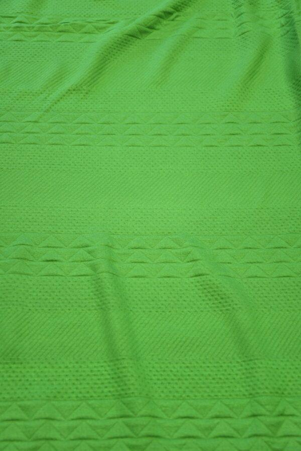Джерси зеленый с фактурным узором 5