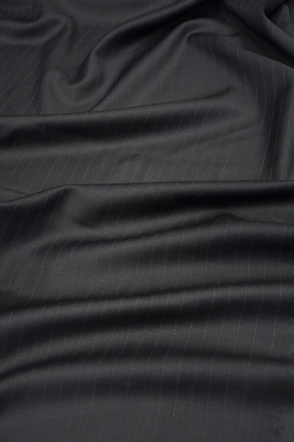 Шерсть черная в коричневую полоску (10510) - Фото 6
