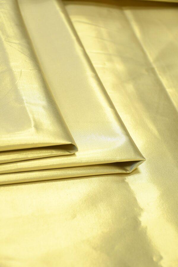 Тафта золотая на хлопковой основе 3