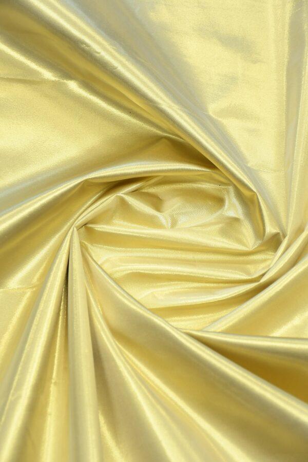 Тафта золотая на хлопковой основе 2