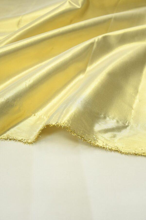 Тафта золотая на хлопковой основе 4