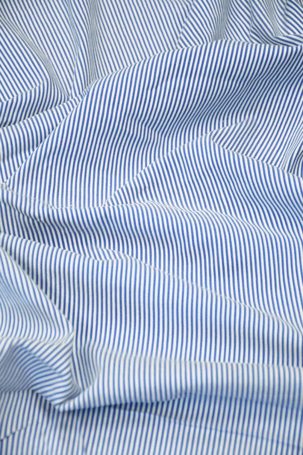 Хлопок в резинку с белой и голубой полоской