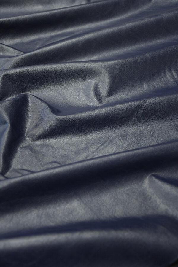 Экокожа темно-синяя