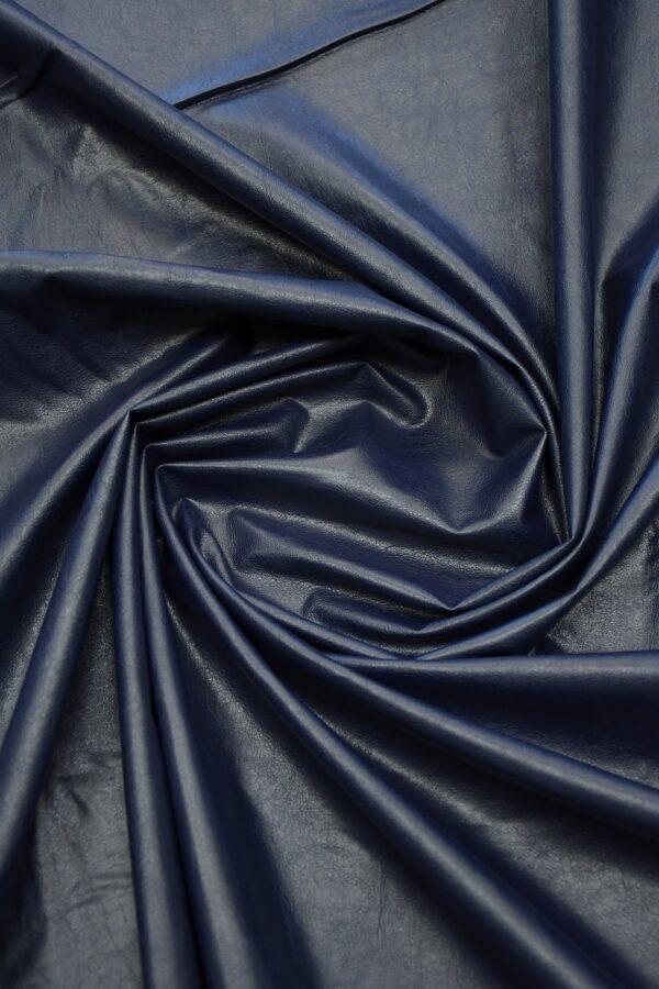 Экокожа темно-синяя 3