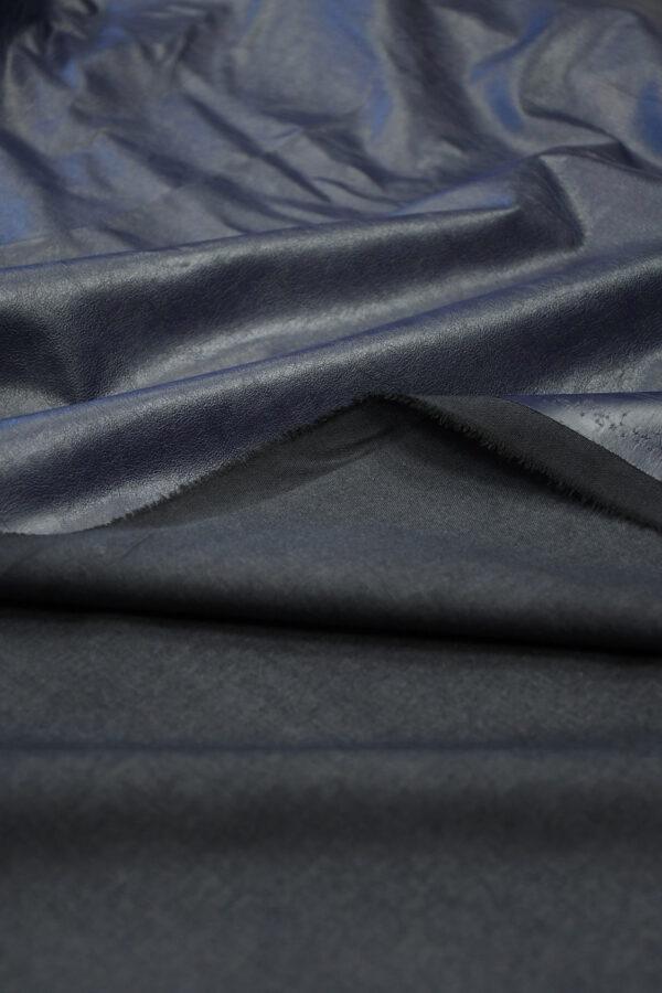 Экокожа темно-синяя 4