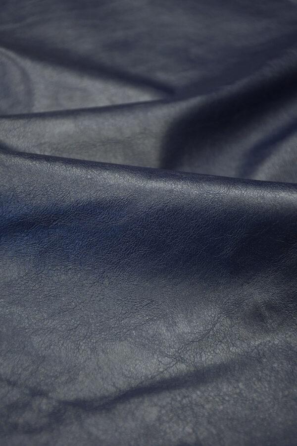 Экокожа темно-синяя 5