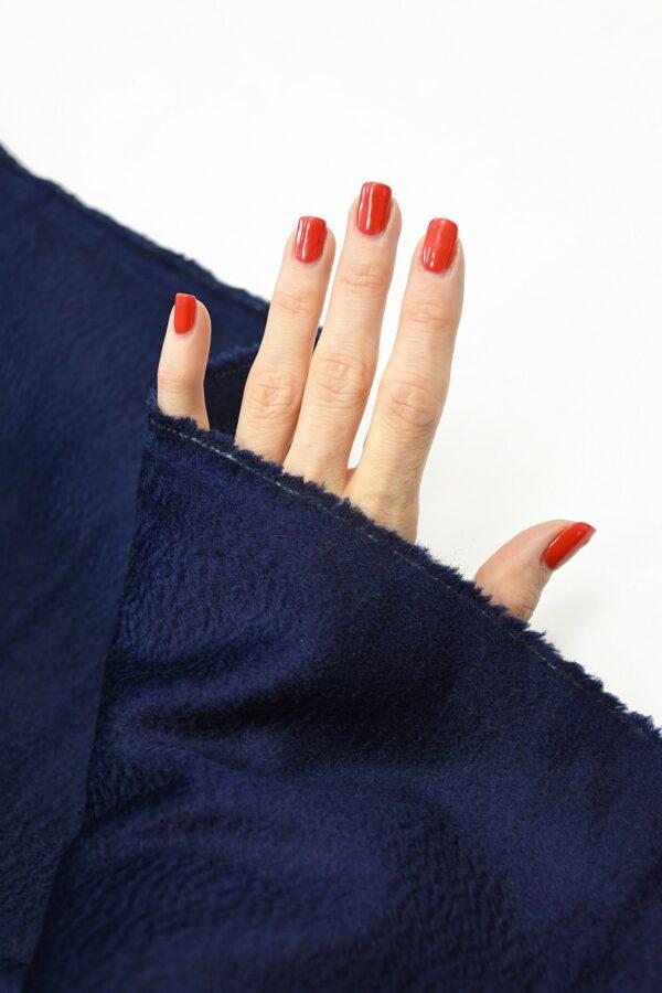 Кашемир пальтовый темно-синий 1