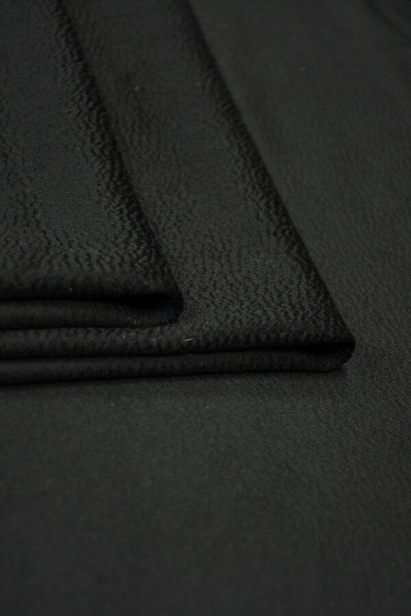 Кашемир пальтовый черный 3