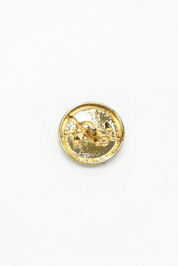 Пуговица металл золото с бронзовой эмалью буквами и змейкой 1