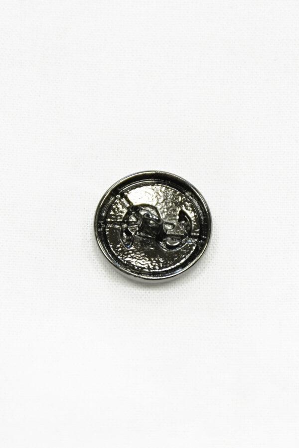 Пуговица блэк никель эмаль с буквами и змейкой 1