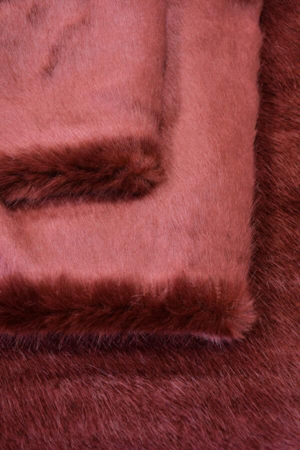 Экомех скандинавская норка бордовая (10564) - Фото 9