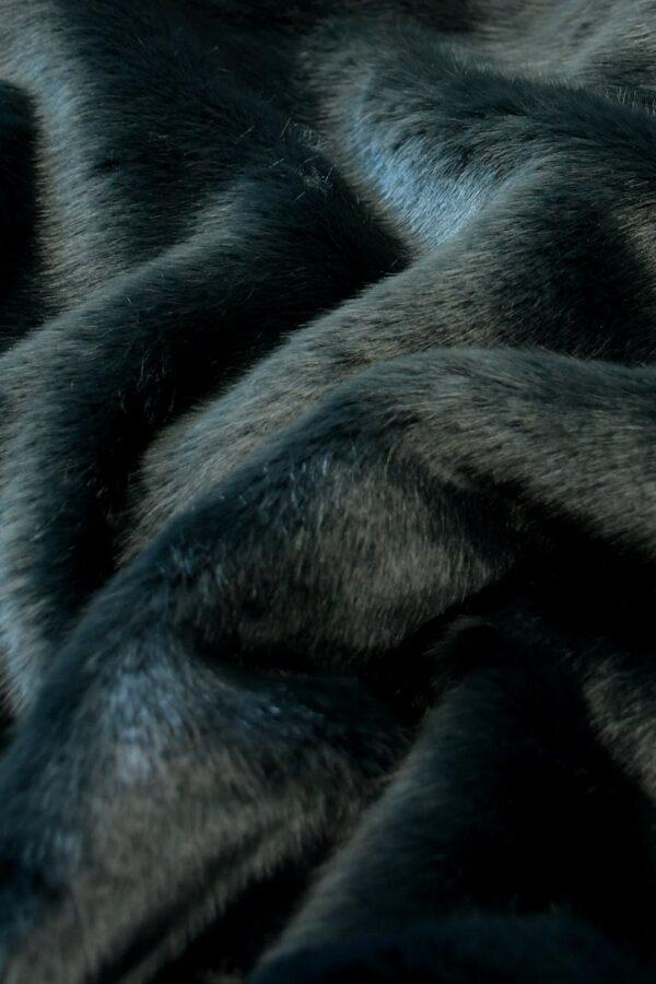 мех норка серый бирюза