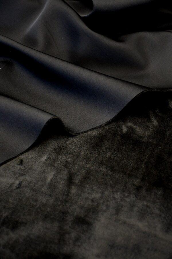 дубленка черная мех