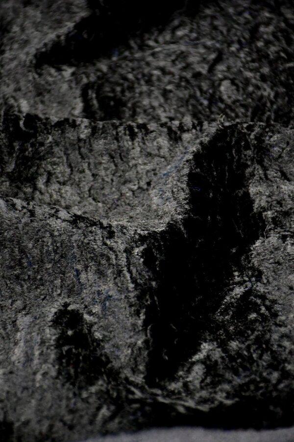 Мех искусственный каракуль черный (10572) - Фото 9