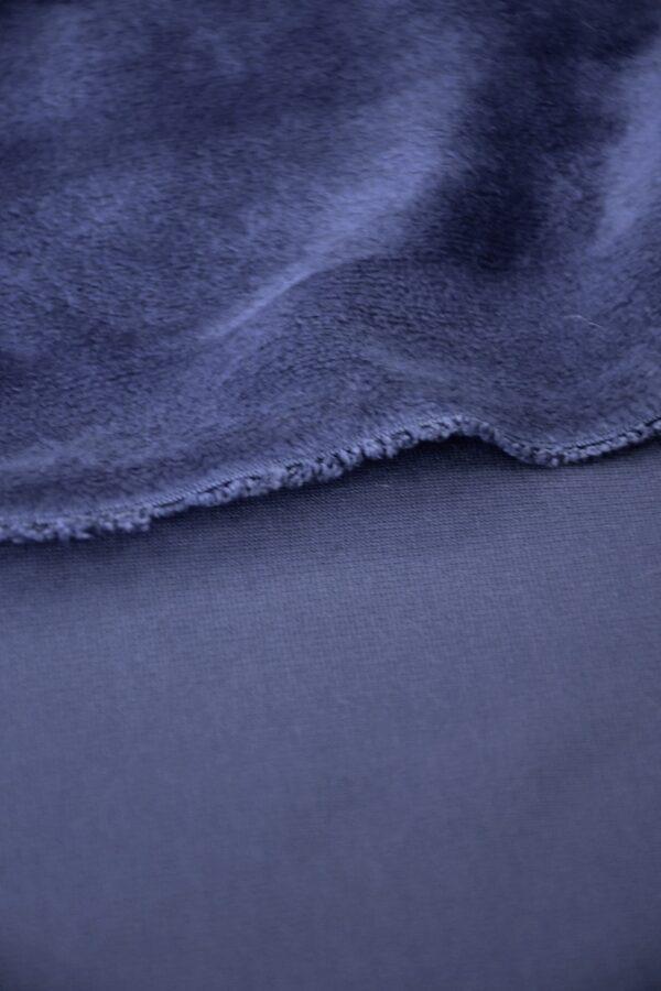 Флис стрейч темно сиреневый (10575) - Фото 9