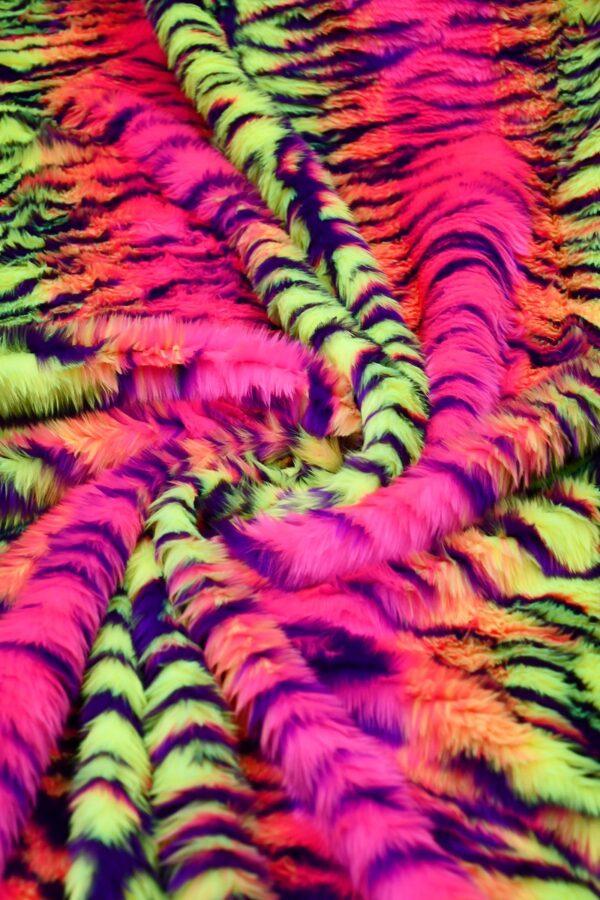 Мех искусственный кислотный тигр (10578) - Фото 7