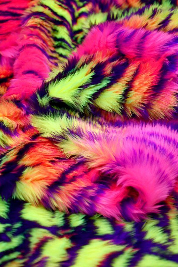 Мех искусственный кислотный тигр (10578) - Фото 9