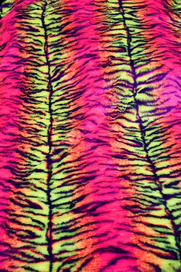 Мех искусственный кислотный тигр (10578) - Фото 10
