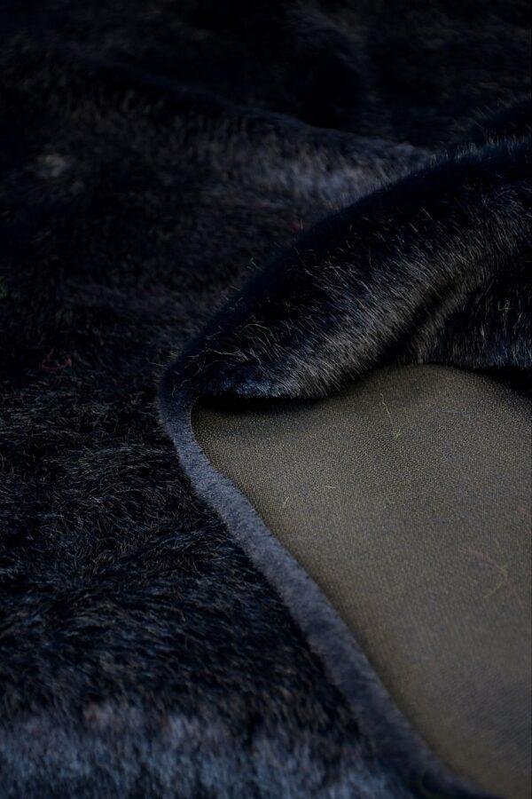 Мех искусственный норка темно-синий (10580) - Фото 9