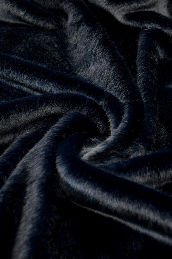 Мех искусственный норка темно-синий (10580) - Фото 7