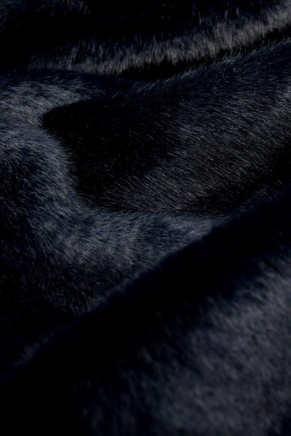 Мех искусственный норка темно-синий (10580) - Фото 8