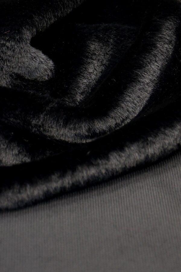 Мех искусственный кролик черный антрацит (10582) - Фото 8