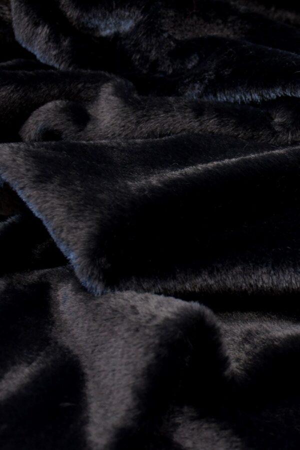 Мех искусственный кролик черный антрацит (10582) - Фото 9