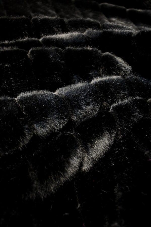 мех норка черный стриженный полоку