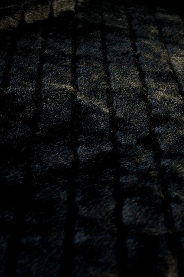 Мех искусственный норка черный в полоску (10583) - Фото 10