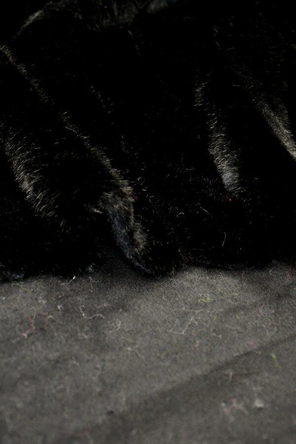 Мех искусственный норка черный в полоску (10583) - Фото 11